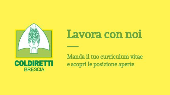 Lavora con noi Coldiretti Brescia