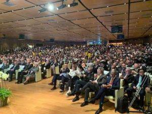 La platea del primo Forum agroalimentare italiano, con il premier Conte a Tuttofood 2019