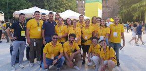 Giovani di Coldiretti con Prandini al Villaggio di Milano