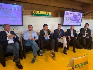 I relatori del summit in Coldiretti Brescia per il maltempo