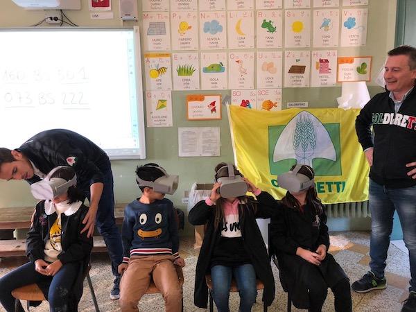 Educazione alimentare con visori di realtà aumentata, la novità Coldiretti
