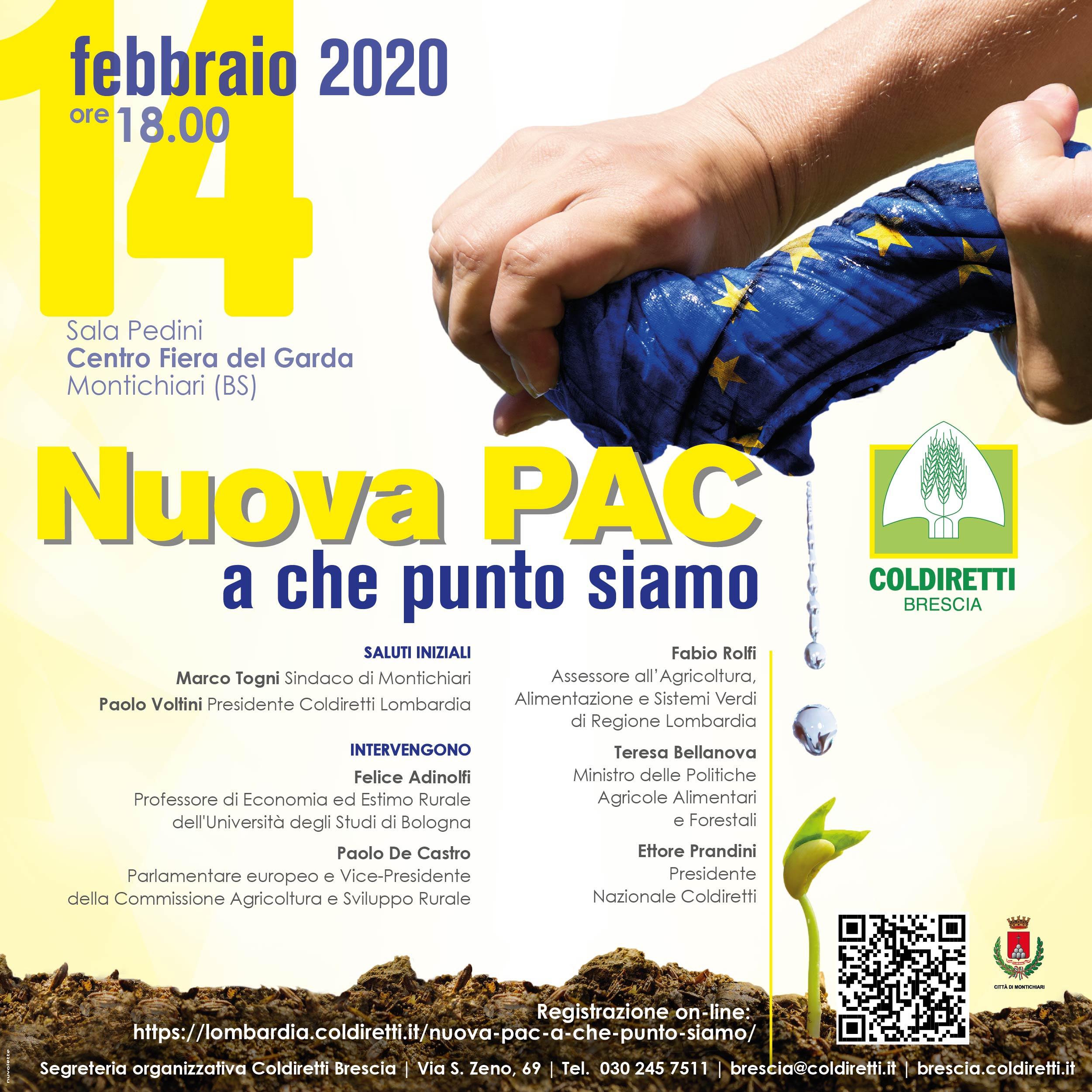 14 febbraio: Nuova PAC a che punto siamo, convegno alla FAZI di Montichiari 2020