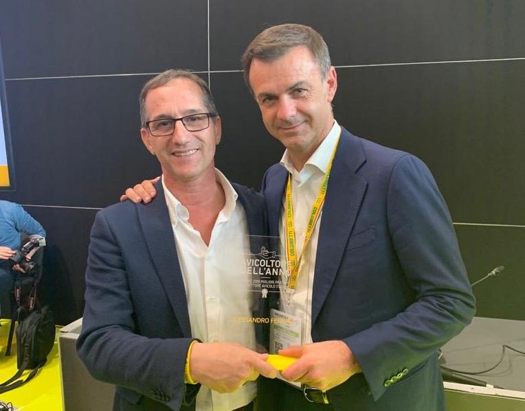 Alessandro Ferrari con il presidente nazionale Ettore Prandini
