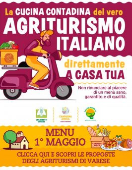 I Maggio: menu a casa con gli agriturismi di Varese!