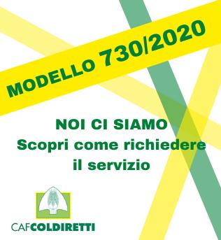 Modello 730/2020 Caf Coldiretti Brescia