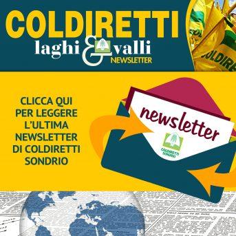 Leggi l'ultima newsletter di Coldiretti Sondrio – Clicca qui per il numero del 15 febbraio 2021