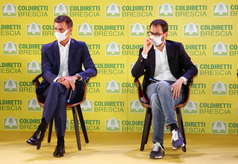 Assemblea Coldiretti Brescia: Ettore Prandini con Stefano Patuanelli