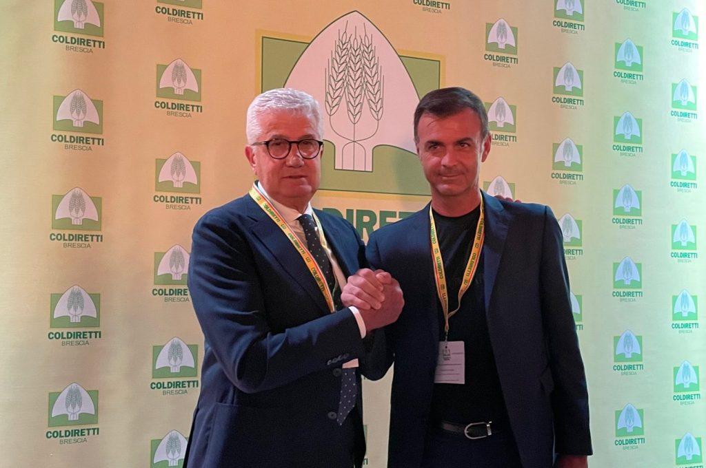 Valter Giacomelli, presidente di Coldiretti Brescia, con il presidente nazionale Ettore Prandini